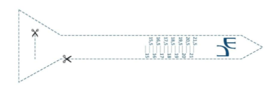 лента для определения размера пальца