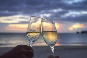 Романтическое свидание с шампанским