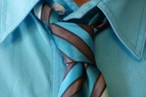 Бирюзовый галстук с зажимом