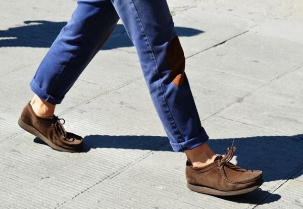 мужские мокасины с джинсами