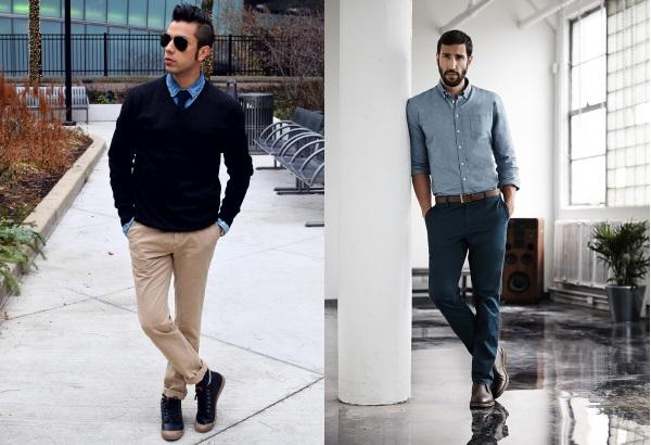 Несколько вариантов одежды под чиносы