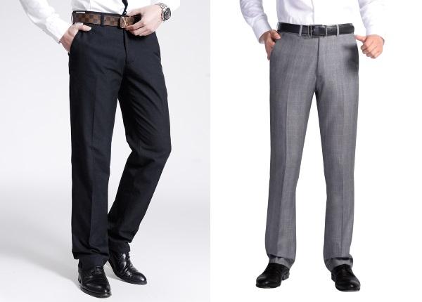 Мужские классические брюки без защипов
