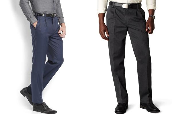 Мужские классические брюки с защипами