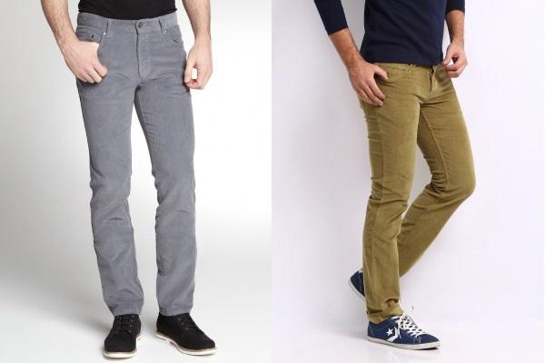 Вельветовые мужские брюки